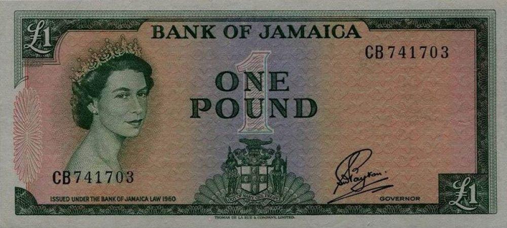 26 лет — 1 ямайский фунт, выпуск 1960 года.