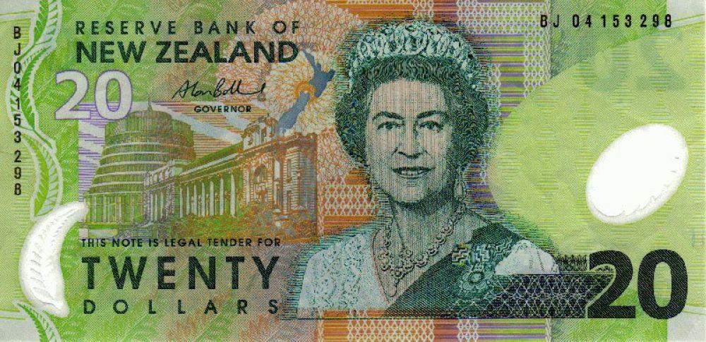 60 лет — 20 новозеландских долларов, выпуск 1999 года.