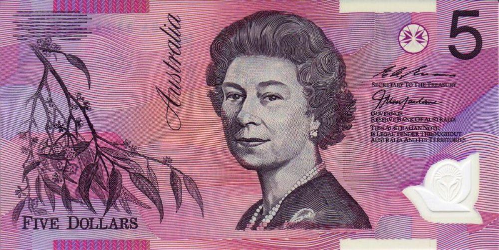 58 лет — 5 австралийских долларов, выпуск 1995 года.