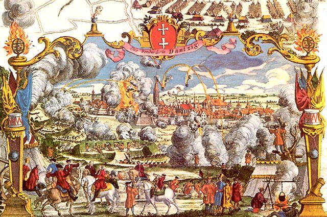 Осада Данцига русскими войсками в 1734 году.