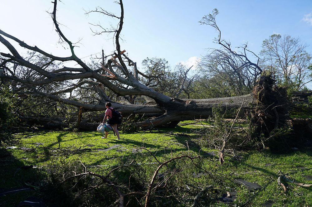 Разрушения в Лейк-Чарльз в Луизиане.