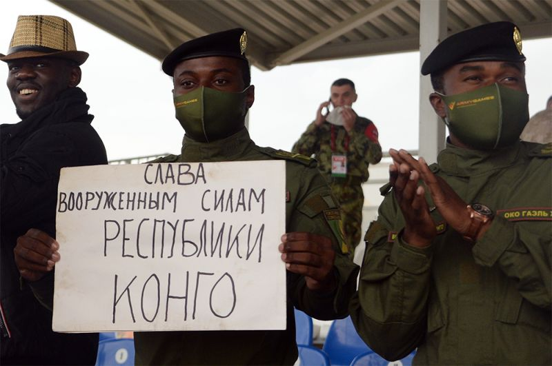 Болельщики команды армии Республики Конго.