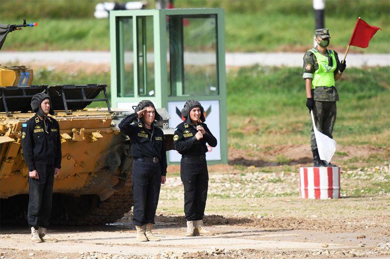 Танк Т-72Б3 команды военнослужащих Казахстана.