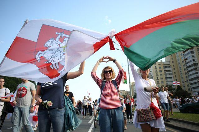Протесты оппозиции в Минске.