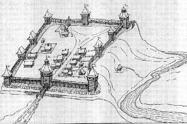 Крепость Оленина гора в XVII веке.