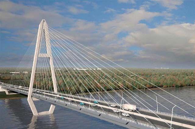 Так выглядит эскиз нового моста, размещённого в двух кварталах от Коммунального.