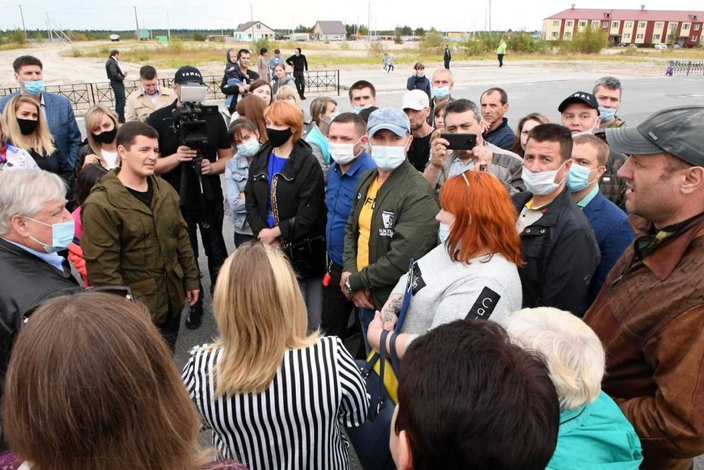 Дмитрий Артюхов посетил район Коротчаево Нового Уренгоя. 23.08.2020