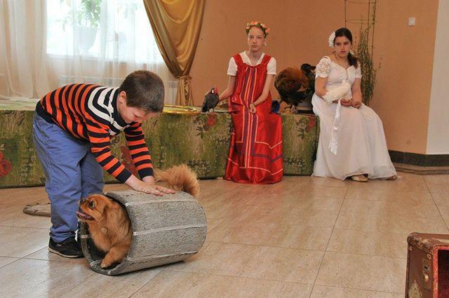 Театр ездит с выступлениями по детским домам, хосписам, домам престарелых.