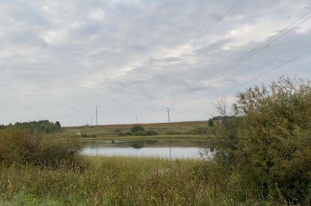 Озеро, на котором произошла трагедия