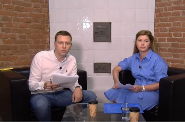 Фатима Шеуджен («Аргументы и факты на Кубани») и Дмитрий Михеев («Комсомольская правда Кубань») в прямом эфире.