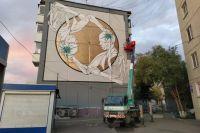 Художники украсили здание в рамках фестиваля уличного искусства «Крась».