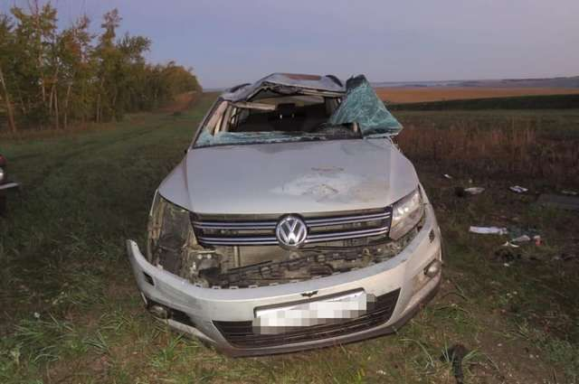20-летняя пассажирка Volkswagen Tiguan погибла в аварии в Башкирии