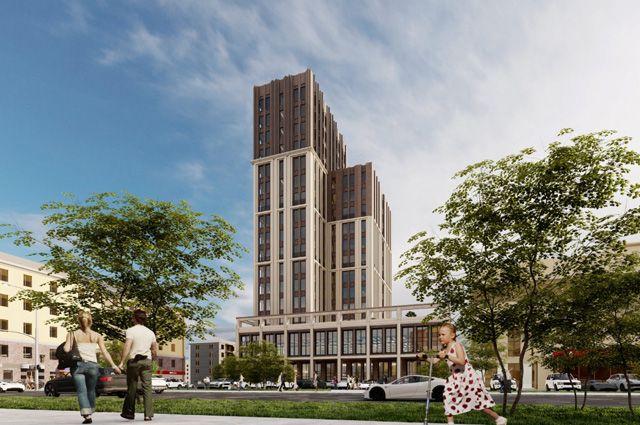 Рабочие эскизы проекта нового здания на месте ЦУМа