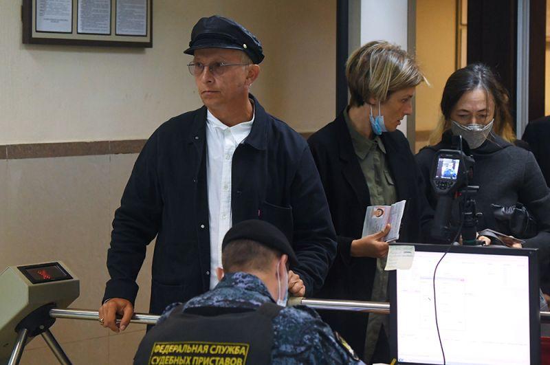 Актер и режиссер Иван Охлобыстин в здании Пресненского суда города Москвы, где будет оглашен приговор по делу.
