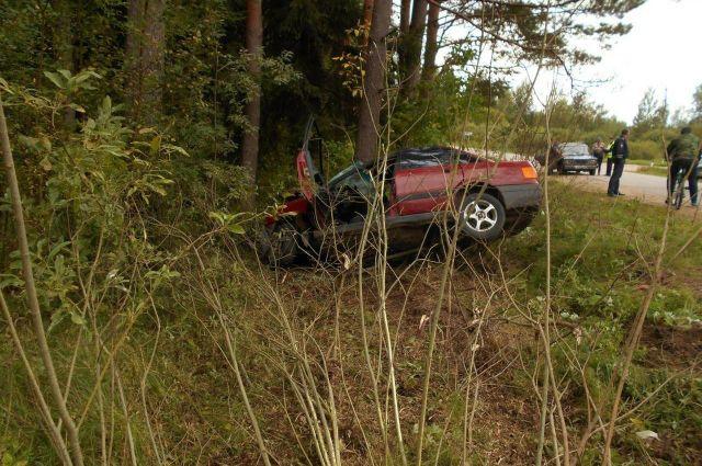 27-летний водитель погиб в ДТП на дороге Пушкинские Горы — Велье