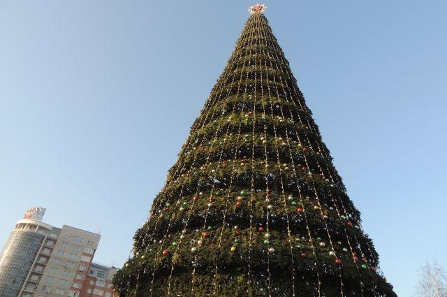 Главная елка в Красноярске - одна из самых высоких в стране.