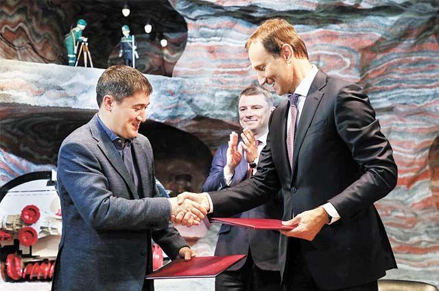 Дмитрий Махонин и Дмитрий Осипов подписали дорожную карту по дальнейшему взаимодействию компании с промышленными предприятиями Пермского края.
