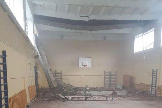 Потолок обрушился в одной из школ в Башкирии