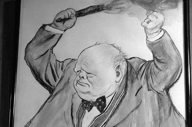 Рисунок «Черчилль». Художники Кукрыниксы.