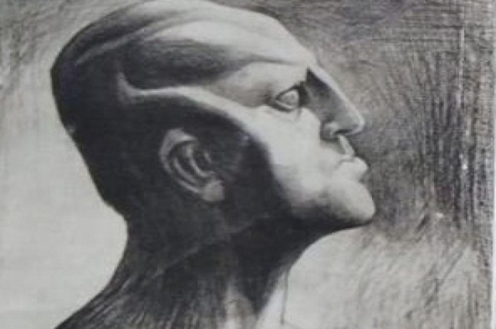 Рисунок Казимира Малевича из фонда музея МХАТ: Качалов в роли Анатэмы.
