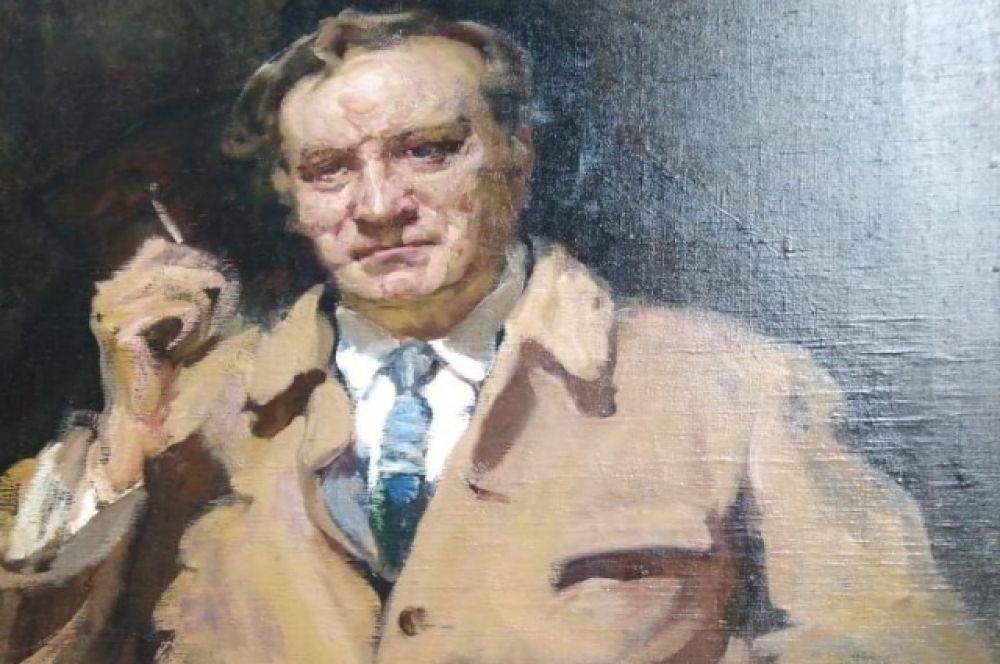 Портрет Качалова кисти В.Н. Мешкова из собрания Государственного центрального театрального музея имени А. А. Бахрушина.