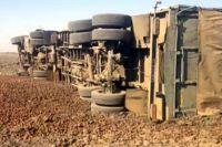 В Херсонской области перевернулась фура: погиб водитель
