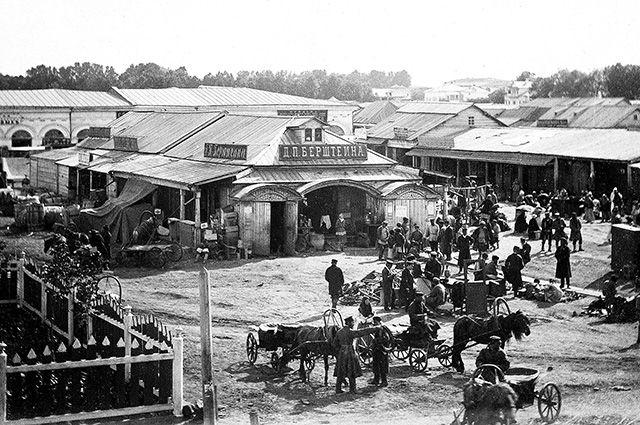 Верхнеторговая площадь была самым оживлённым местом губернской Уфы.