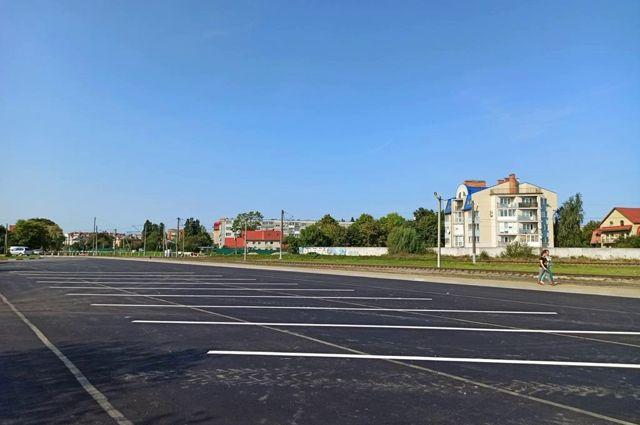 В Зеленоградске построили новый паркинг для туристических автобусов