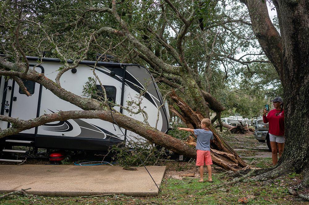 Разрушения в Дофин-Айленд, Алабама.
