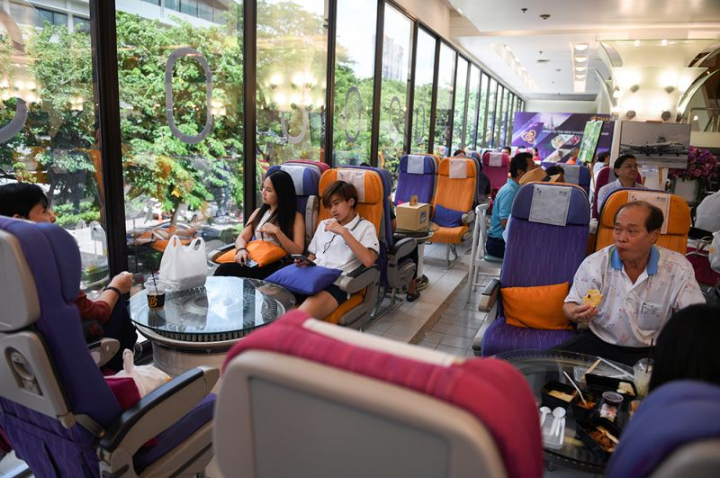 Ресторан принадлежит перевозчику Thai Airways и расположен в штаб-квартире авиакомпании.