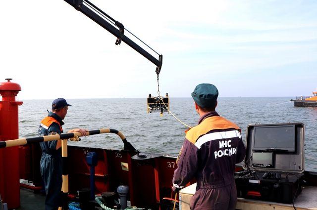 В Балтийском море приостановлено разминирование немецкой баржи