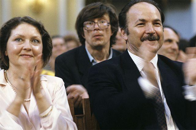Жанна Болотова и Николай Губенко. 1990 г.