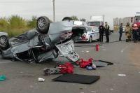 В тройном ДТП с перевертышем в Ростошах пострадали трое детей.