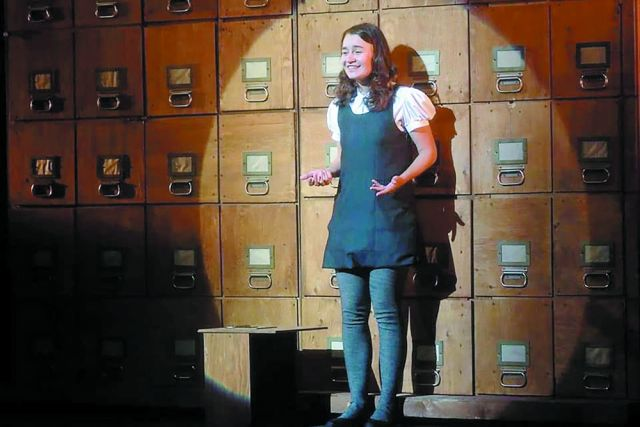 Анна Франк в исполнении Олеси Белоконь.