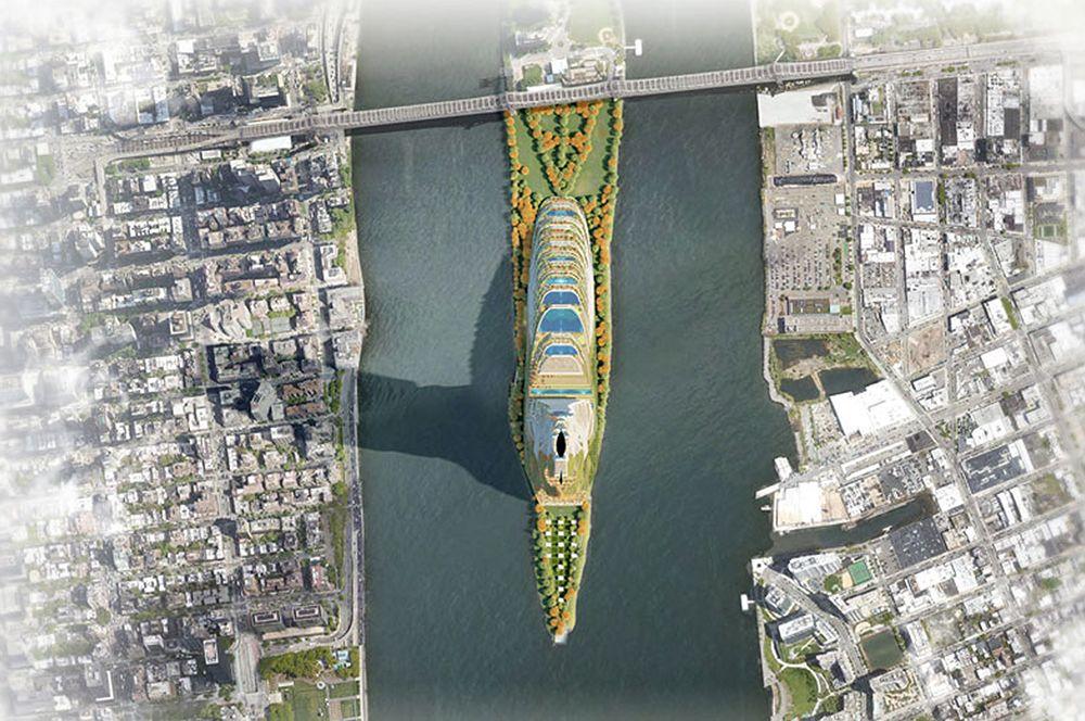 Небоскреб предлагается построить на острове Рузвельта.