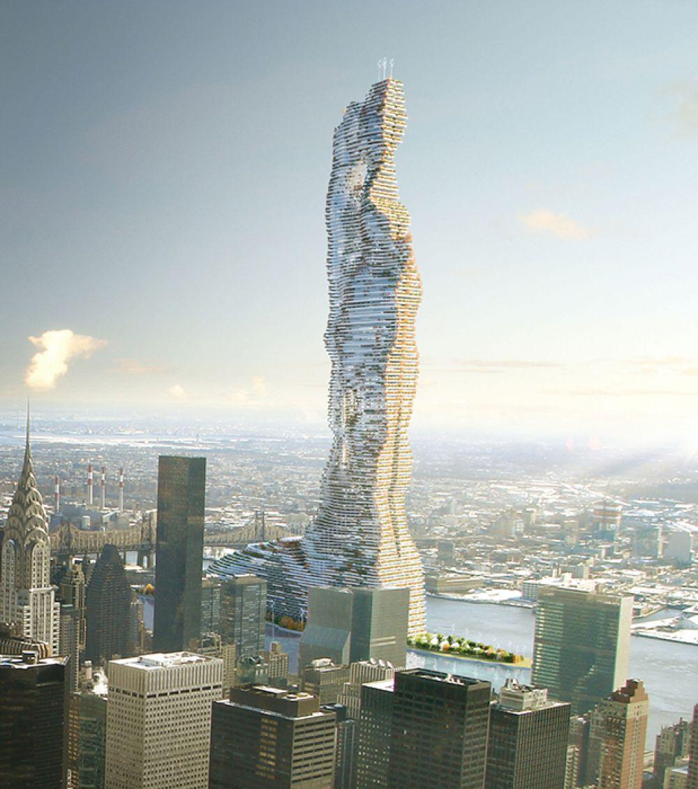 Название башни «Мандрагора» по задумке отсылает к растению мандрагора, корню которого приписывают волшебные свойства.