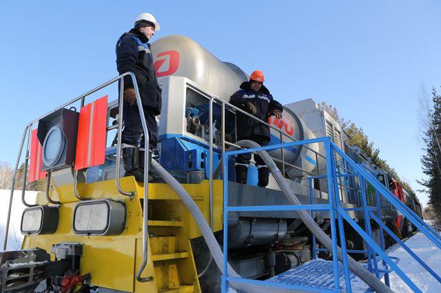 В «Газпром трансгаз Екатеринбург» проходили испытания первого российского газотурбовоза.