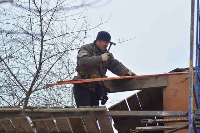 В половине домов работы ужен завершены.