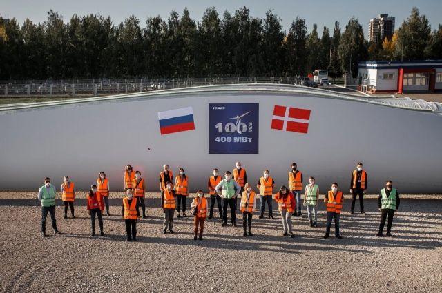 Завод Vestas и Роснано в Ульяновске поставил лопасти для 100 ветроустановок