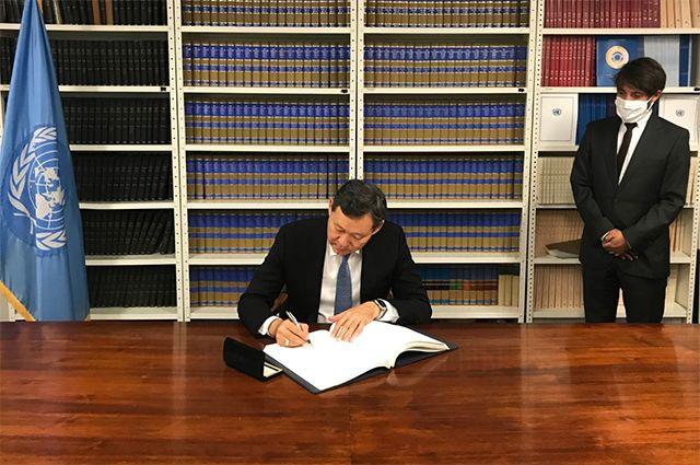 23 сентября 2020 года в штаб-квартире Организации Объединённых Наций постоянный представитель Казахстана при ООН Кайрат Умаров подписал Второй факультативный протокол к Международному пакту о гражданских и политических правах, направленный на отмену смертной казни.