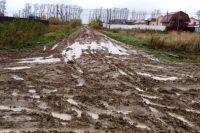 Преодолевать этот путь школьникам и их родителям приходится по грязи.