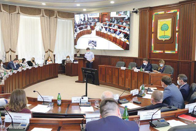Первая сессия городского парламента.