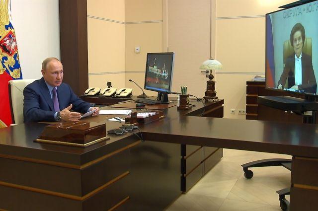Президент пожелал удачи в работе избранному на очередной срок губернатору округа