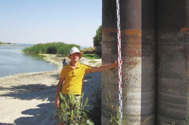 Уровень воды в Цимлянском водохранилище приближается к историческим минимумам.
