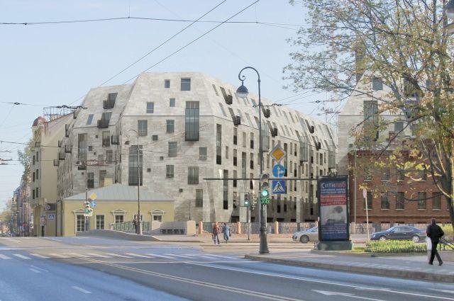 Проект будущего ЖК Meltzer Hall, получившего у горожан прозвище «Гроб».