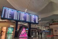 Аэропорт Стамбула - полный мрак и запустение.