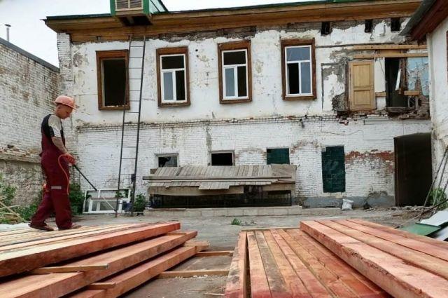 В Оренбурге ремонт Музея-квартиры им. Гагариных планируют завершить в 2021 году.
