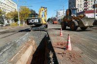 Улица Туркестанская в Оренбурге, ремонтируемая днем и ночью, имеет самый низкий процент готовности.