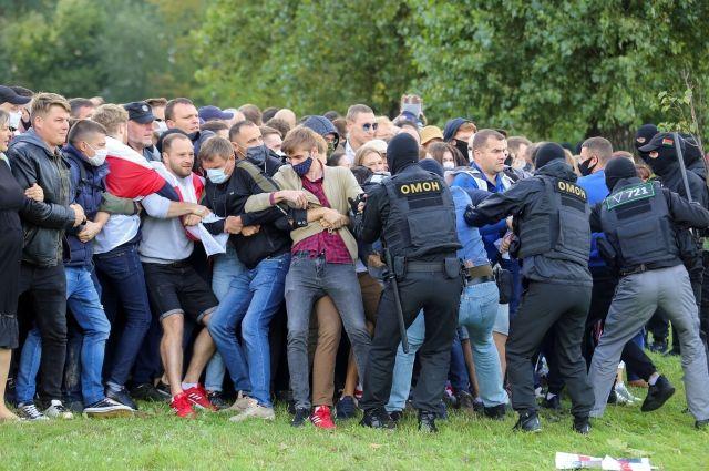 Протесты в Белоруссии.
