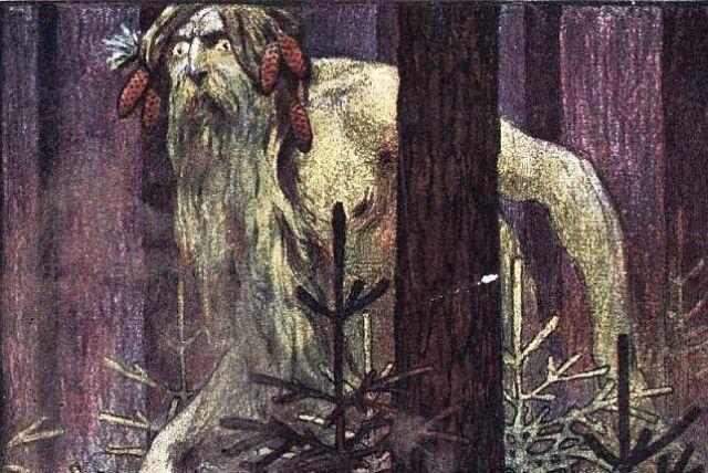 Рисунок Н. Брута с обложки журнала «Леший», 1906 год.